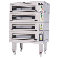 Doyon 2T4 Artisan 4 Stone 37 1/2 inch Deck Oven - 8 Pan Capacity, 480V, 3 Phase