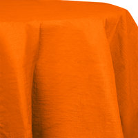 Creative Converting 923282 82 inch Sunkissed Orange OctyRound Tissue / Poly Table Cover   - 12/Case