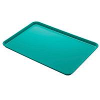 Cambro 1826MT140 18 inch x 26 inch Green Fiberglass Market Tray   - 6/Case
