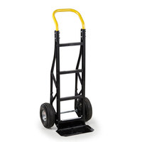 Harper PGCSK19BLK Continuous Handle Steel Tough 600 lb. Nylon Hand Truck with 10 inch x 3 1/2 inch Pneumatic Wheels - Assembled