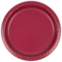 Creative Converting 503122B 10 inch Burgundy Paper Plate - 240/Case