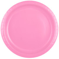 Creative Converting 503042B 10 inch Candy Pink Paper Banquet Plate - 240/Case