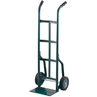 Harper 20T86 Dual Handle 800 lb. Steel Hand Truck with 10 inch x 2 inch Solid Rubber Wheels