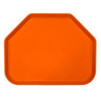 Cambro 1418TR220 14 inch x 18 inch Trapezoid Citrus Orange Customizable Fiberglass Camtray - 12/Case