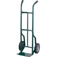 Harper 50T86 Dual Handle 600 lb. Steel Hand Truck with 10 inch x 2 inch Solid Rubber Wheels