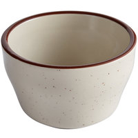 Choice 7.25 oz. Brown Speckle Narrow Rim Stoneware Bouillon Cup - 36/Case