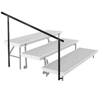 National Public Seating SGRTP4 Side Guardrail for 4-Level Trans-Port Risers
