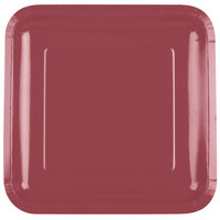 Creative Converting 463122 9 inch Burgundy Square Paper Plate - 180/Case