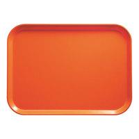 Cambro 1418220 14 inch x 18 inch Rectangular Citrus Orange Customizable Fiberglass Camtray - 12/Case