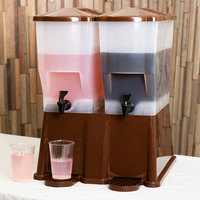 Tablecraft TW54DP 3 Gallon Double Slimline Beverage / Juice Dispenser