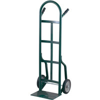 Harper 40T77 Continuous Dual Pin Handle 800 lb. Steel Hand Truck with 8 inch x 1 5/8 inch Mold-On Rubber Wheels
