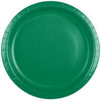 Creative Converting 50112B 10 inch Emerald Green Paper Plate - 240/Case
