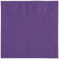 Choice 10 inch x 10 inch Customizable Purple 2-Ply Beverage / Cocktail Napkins - 1000/Case