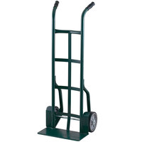 Harper 25T83 Dual Handle 900 lb. Steel Hand Truck with Fenders and 10 inch x 2 1/2 inch Solid Rubber Wheels