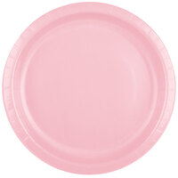 Creative Converting 50158B 10 inch Classic Pink Paper Banquet Plate - 240/Case