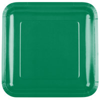 Creative Converting 463261 9 inch Emerald Green Square Paper Plate - 180/Case
