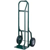 Harper 27T84 Loop Handle 800 lb. Steel Hand Truck with 10 inch x 2 1/2 inch Solid Rubber Wheels and Reinforced Base