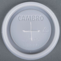 Cambro CLLT6 Disposable Translucent Lid with Straw Slot for Cambro LT6 6 oz. Laguna Tumblers - 1500/Case