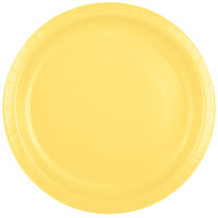 Creative Converting 50102B 10 inch Mimosa Yellow Paper Plate - 240/Case