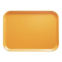 Cambro 1014171 10 5/8 inch x 13 3/4 inch Rectangular Tuscan Gold Fiberglass Camtray - 12/Case