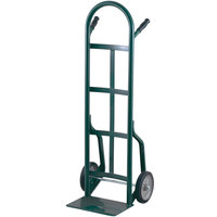 Harper 40T14 Continuous Dual Pin Handle 800 lb. Steel Hand Truck with 8 inch x 2 1/4 inch Solid Rubber Wheels