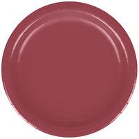 Creative Converting 793122B 7 inch Burgundy Paper Lunch Plate - 240/Case