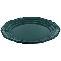 Tablecraft CW6100HGNS Hunter Green with White Speckle 16 inch Cast Aluminum Queen Anne Round Platter