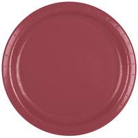 Creative Converting 473122B 9 inch Burgundy Paper Plate - 240/Case