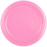 Creative Converting 473042B 9 inch Candy Pink Paper Plate - 240/Case