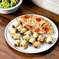 Homer Laughlin 575100 Fiesta White 12 inch China Pizza / Baking Tray - 4/Case