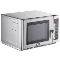 Amana RFS12TS Medium Duty Stainless Steel Commercial Microwave with Push Button Controls - 120V, 2000W