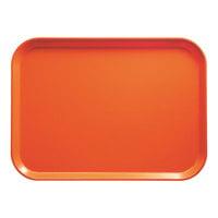 Cambro 1014220 10 5/8 inch x 13 3/4 inch Rectangular Citrus Orange Fiberglass Camtray - 12/Case
