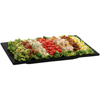 Tablecraft CW2102BK Black Cast Aluminum 14 inch x 7 inch Rectangular Platter