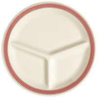 GET CP-10-OX Diamond Oxford 10 1/4 inch Three Compartment Plate - 12/Case