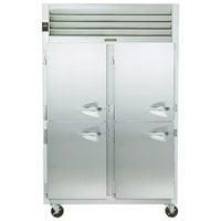 Traulsen G24305P 2 Section Pass-Through Half Door Hot Food Holding Cabinet with Left Hinged Doors