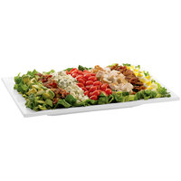 Tablecraft CW2102W White Cast Aluminum 14 inch x 7 inch Rectangular Platter