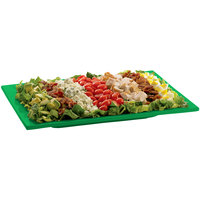 Tablecraft CW2102GN Green Cast Aluminum 14 inch x 7 inch Rectangular Platter