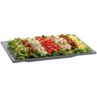 Tablecraft CW2102GR Granite Cast Aluminum 14 inch x 7 inch Rectangular Platter
