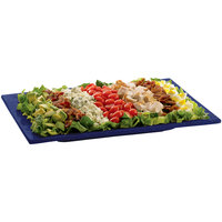 Tablecraft CW2102BS Blue Speckle Cast Aluminum 14 inch x 7 inch Rectangular Platter