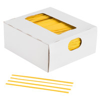 Bedford Industries Inc. 4 inch Yellow Laminated Bag Twist Ties - 2000/Box