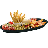 Tablecraft CW2210BKGS Black with Green Speckle Cast Aluminum King Fish Platter