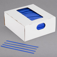 Bedford Industries Inc. 4 inch Blue Laminated Bag Twist Ties - 2000/Box