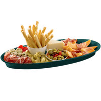 Tablecraft CW2210HGNS Hunter Green with White Speckle Cast Aluminum King Fish Platter