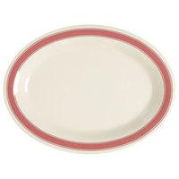 GET OP-120-OX Diamond Oxford 12 inch Oval Platter - 12/Case