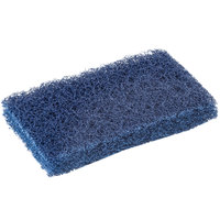 Scrubble by ACS S088 6 inch x 3 1/2 inch Extra Heavy-Duty Blue Scouring Pad   - 10/Pack