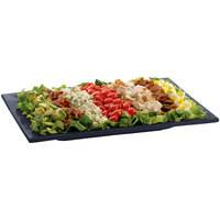 Tablecraft CW2102MBS Midnight with Blue Speckle Cast Aluminum 14 inch x 7 inch Rectangular Platter