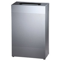 Rubbermaid FGSR14EPLSM Silhouettes Silver Metallic Steel Designer Rectangular Waste Receptacle - 25 Gallon