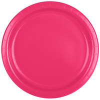 Creative Converting 47177B 9 inch Hot Magenta Pink Paper Plate - 240/Case