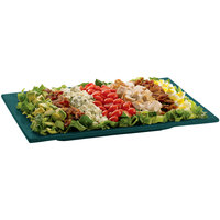 Tablecraft CW2102HGNS Hunter Green with White Speckle Cast Aluminum 14 inch x 7 inch Rectangular Platter