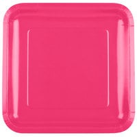 Creative Converting 463277 9 inch Hot Magenta Pink Square Paper Plate - 180/Case
